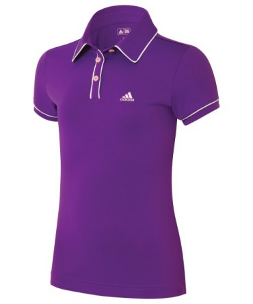 Super Sonderangebot - Adidas Golf Junior ClimaLite Piped Polo - Vivid Purple – Bild 1
