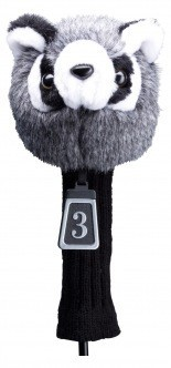 Silverline Big Animal Headcover Waschbär mit Strumpf